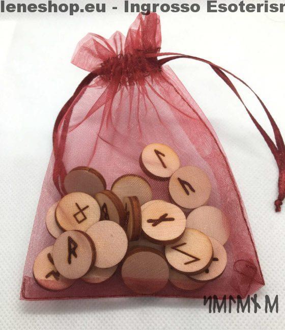 sacchetto rune in legno