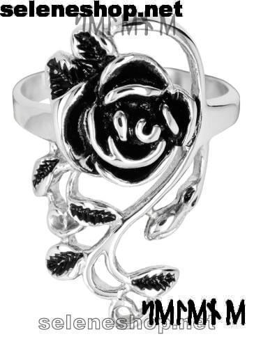 anello con rosa