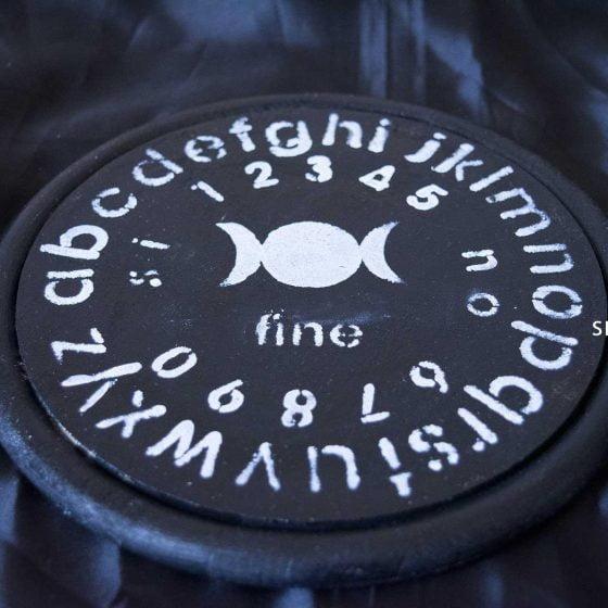 tavola ouija tonda nera pendolo
